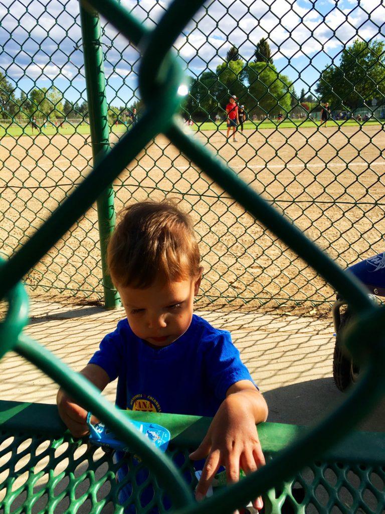 Chase at Kickball